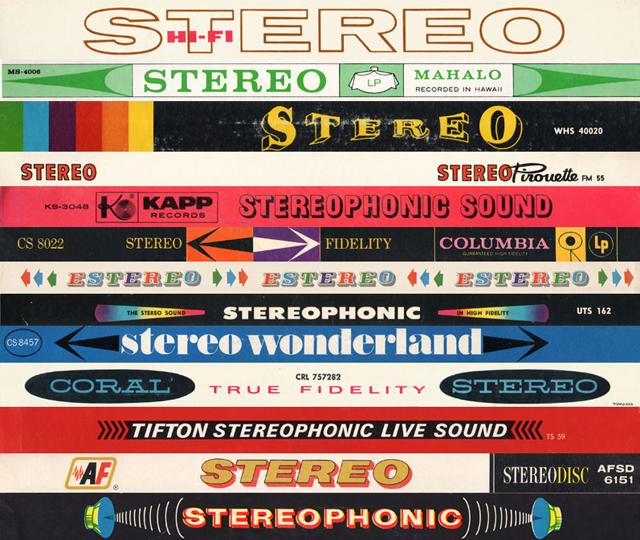 coleção de selos stereo de vinis antigos